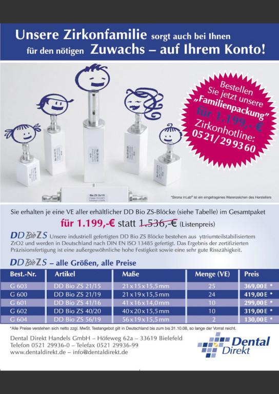 Produktanzeigen – Dental Direkt ZIRKON