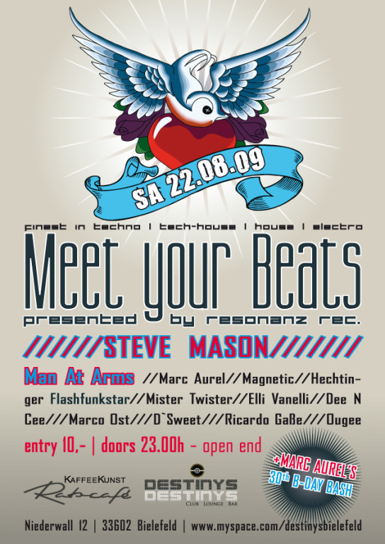 "UPDATE-Anzeige Flyer ""Meet your beats"" Vol.2"