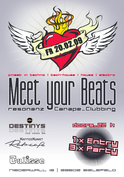 "Flyer ""Meet your beats"" Vol.1"