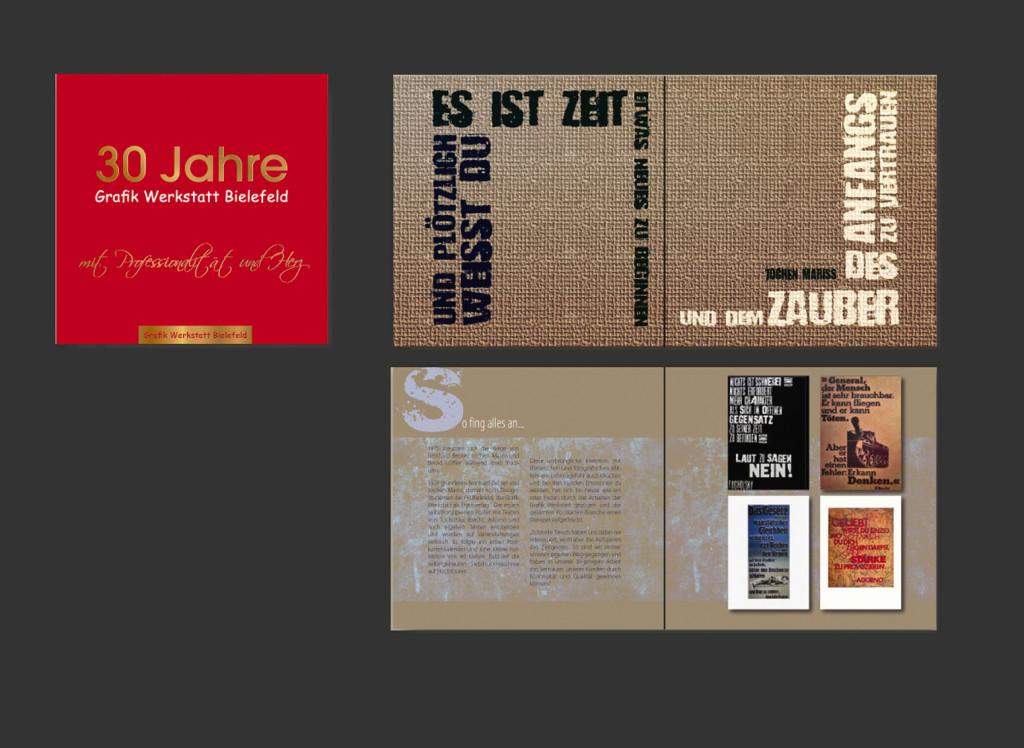 JUBILAEUMSBUCH Grafik Werkstatt Bielefeld – Entwürfe