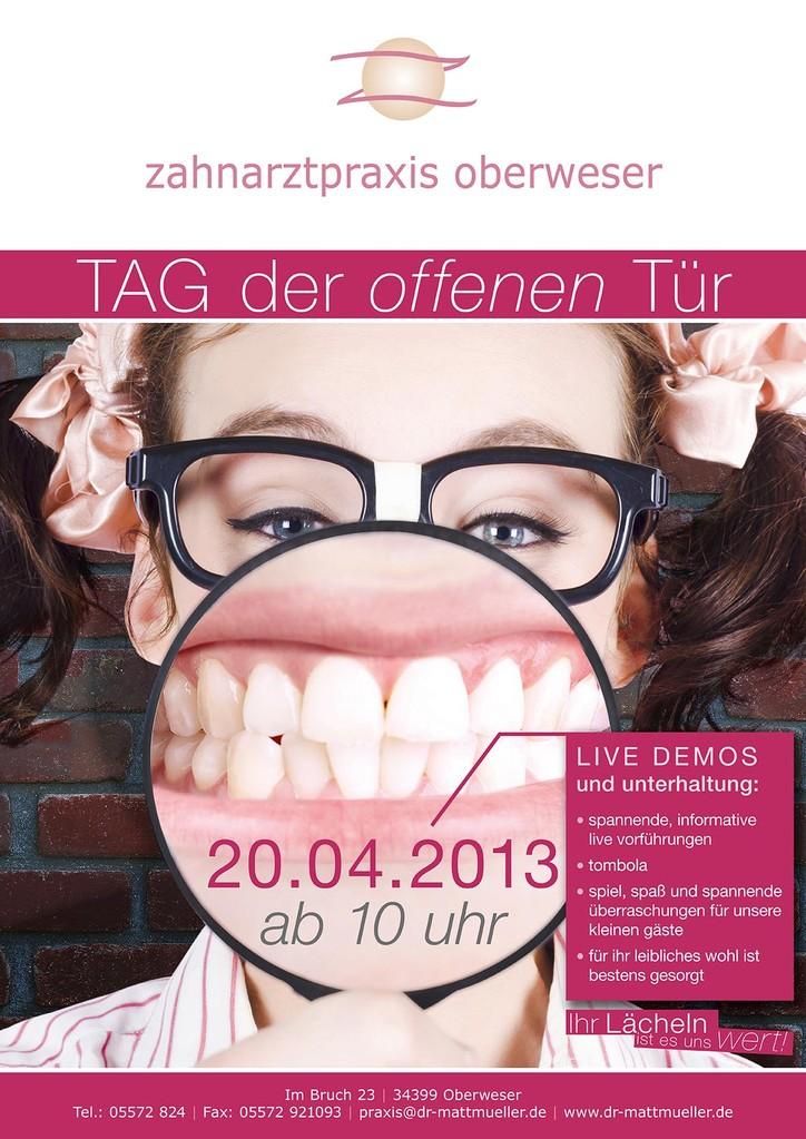 Zahnarztpraxis Oberweser – Werbeplakat