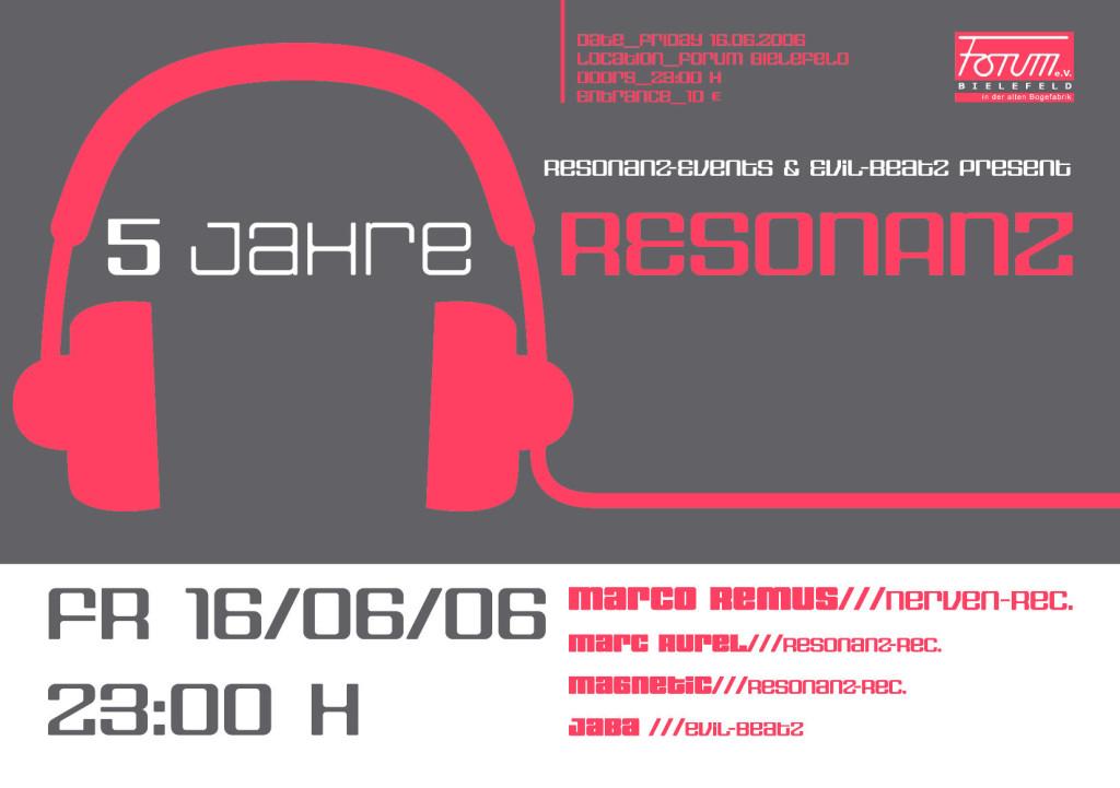 Flyer 5 Jahre Resonanz Rec.