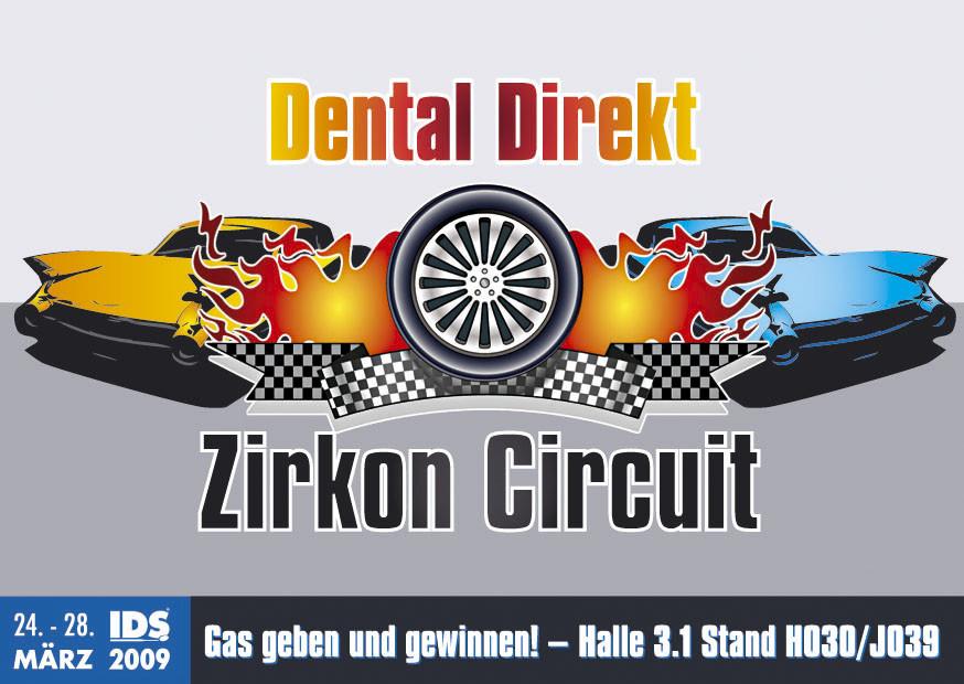 Einladungspostkarte Dental Direkt Renn-Event (IDS)