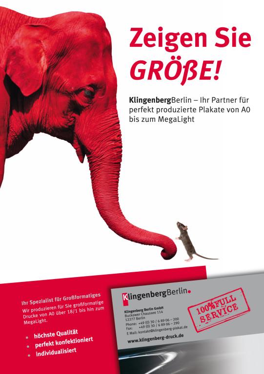 Imageanzeigen – Klingenberg Berlin