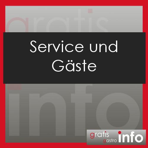 Service und Gäste in der Gastronomie