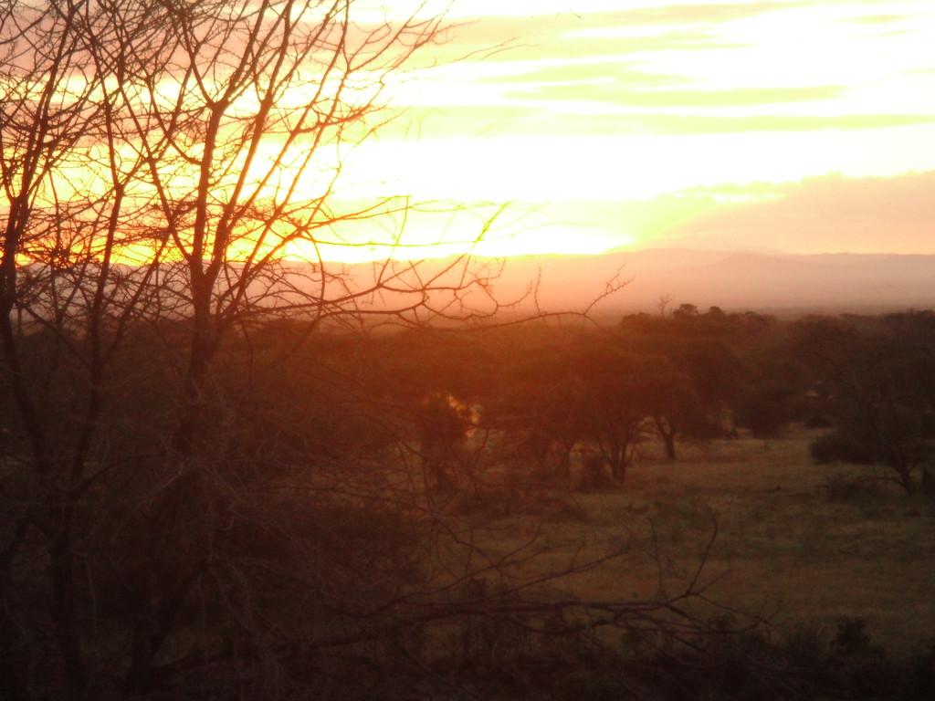 ンダラクワイキャンプのラウンジからの夕日見とれちゃうんだな~