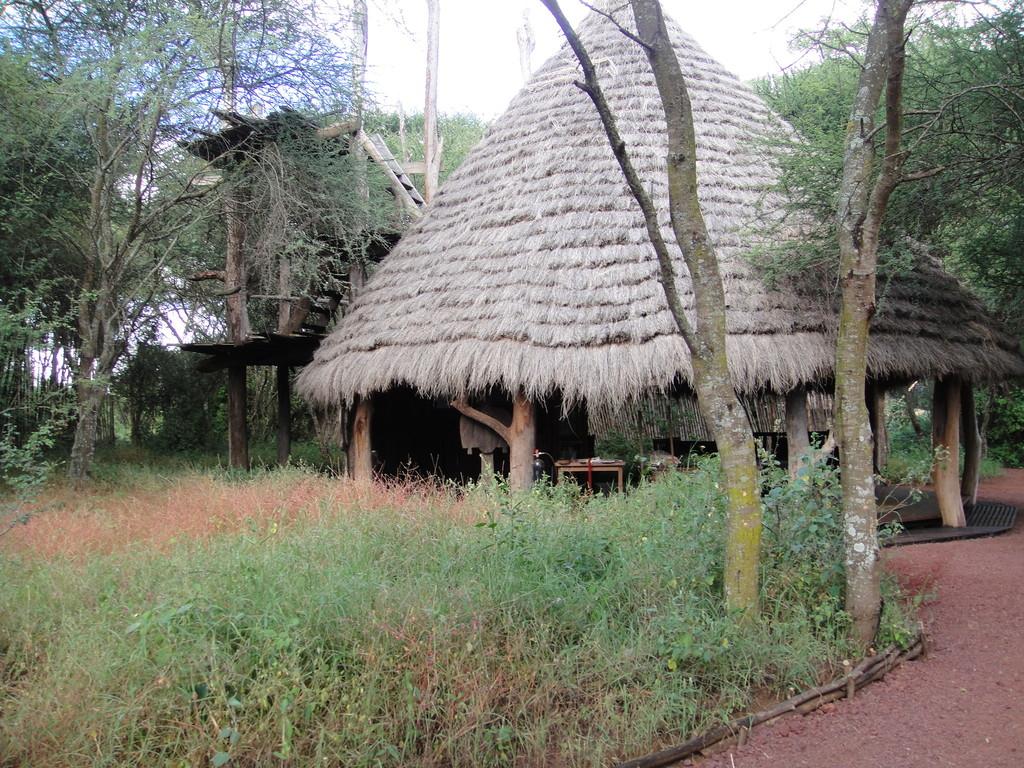 ンダラクワイキャンプ外から見たラウンジ