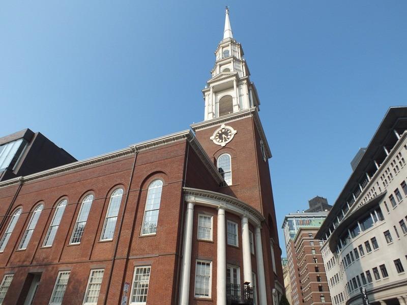Park Street Churchです。奴隷制度反対演説を行った場所です。
