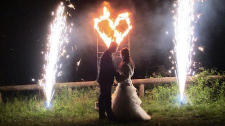 Hochzeitsunterhaltung Feuerkünstler MAD-HIAS Feuershow Nürnberg