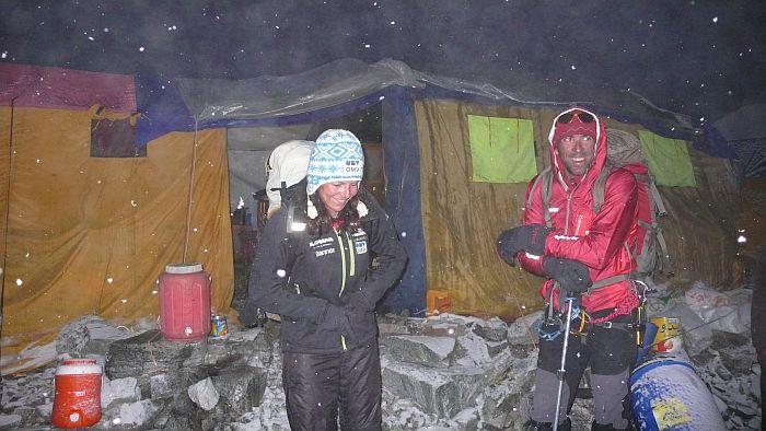 Gerlinde und Fabrizo beim Start © R.Dujmovits