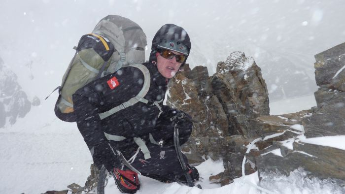 Aufstieg im einsetzendem Schneefall (c) G.Kaltenbrunner