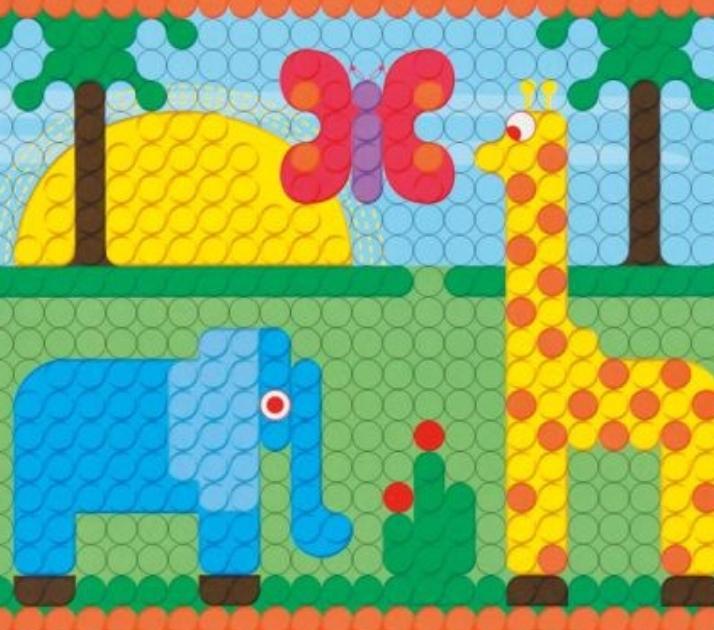 Kinderbetreuung mit kreative Spiele und Farben für die Feinmotorik und Künstlerische Entwicklung des Kindes