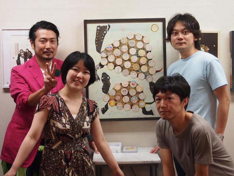 左上 そださん 左下 伊藤さん 右下 宇野本さん 右上 僕