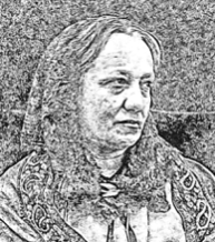 DRAWING BY F.MASSHOLDER AFTER A PICTURE FROM HER HUSBAND