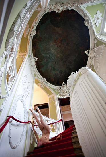 "NADA ZGANK | DUCUMENTATION OF ARTIST KIRA 0'REILLY 'S PERFORMANCE WORK ""STAIR FALLING"" , 2010"