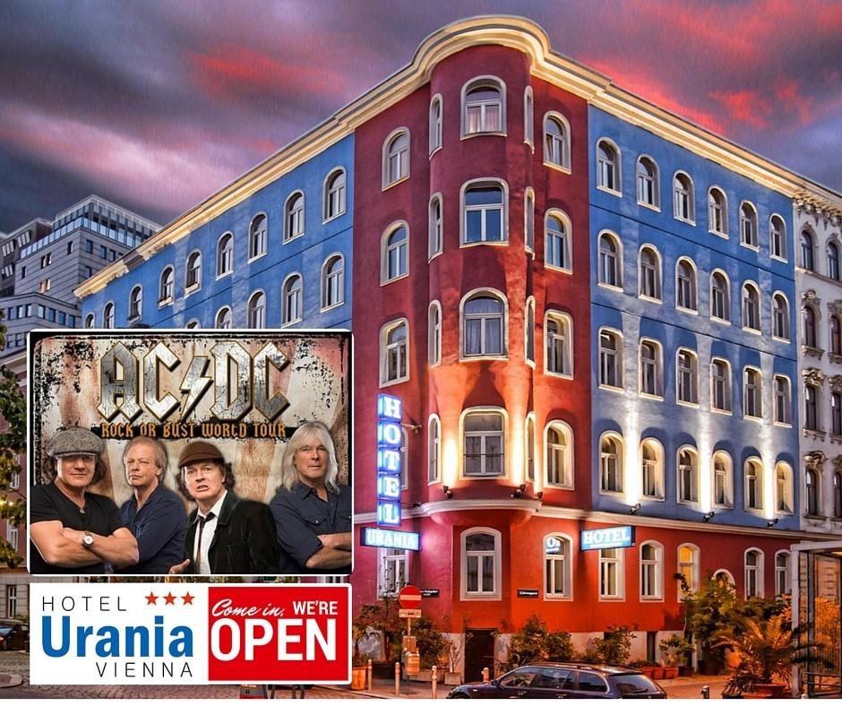 Happel Stadion Hotel Urania direkt buchen und Geld sparen, ACDC Konzert in Wien 19. Mai 2016 - Rock OR Bust World Tour - Vienna, Empfehlung und Bewertung
