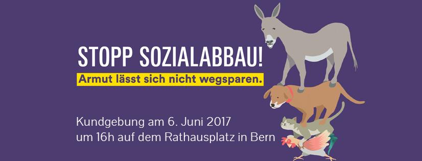 2017: Wir engagieren uns gegen den Sozialabbau im Kanton Bern