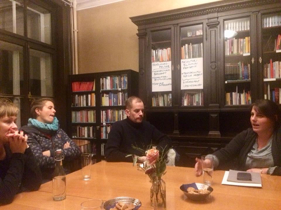 2017: Soziokultur-Stammtisch: Nina Müller stellt die soziokulturellen Aktivitäten in der Villa Stucki vor