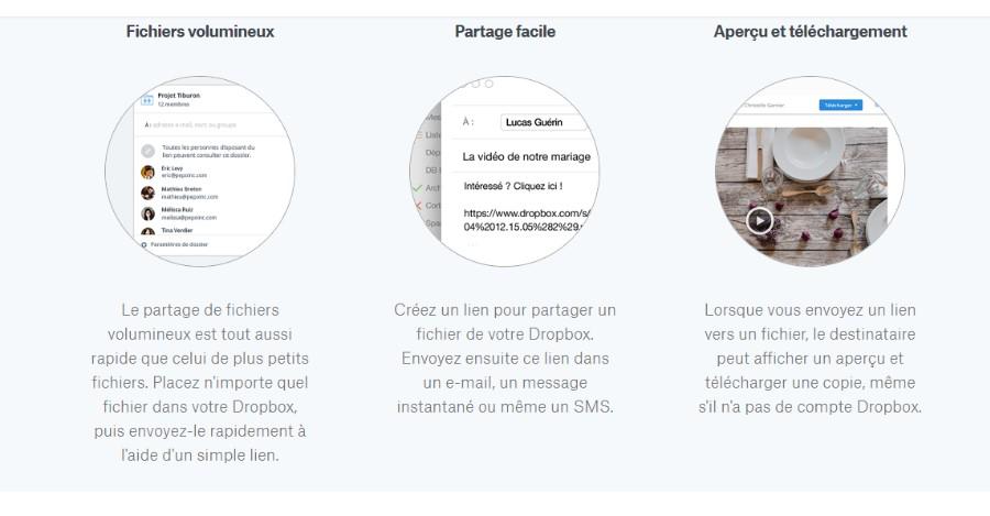 Exemple de partage de fichiers avec Dropbox