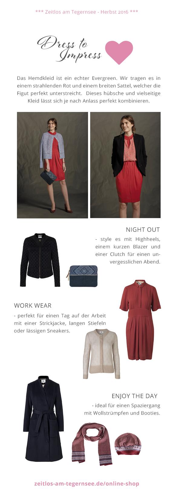 NOA NOA Kleid, Herbst-LOOK