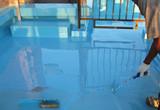 防水工事(ウレタン塗膜防水密着工法)防水層2層目塗布