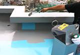 防水工事(ウレタン塗膜防水密着工法)トップコート塗布