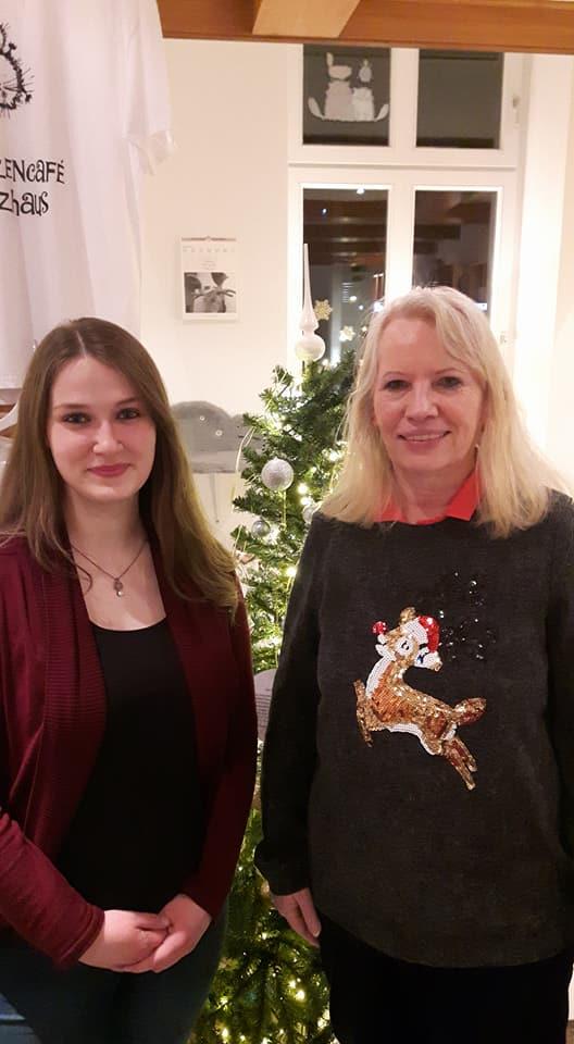 Pia und Brigitta am 15.12.17 im Miezhaus in Bielefeld...