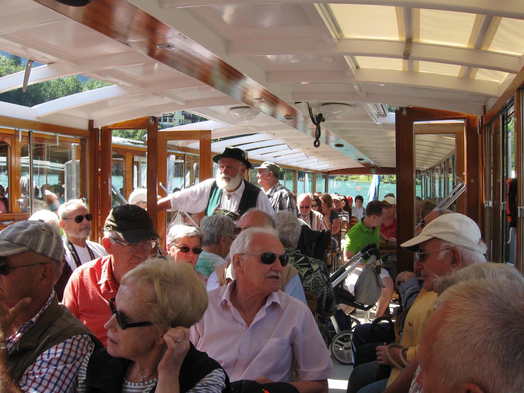 Im Elektroboot auf dem Königssee