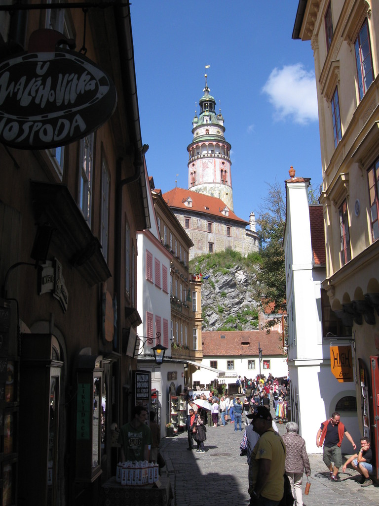 Blick zum Schloss Krummau