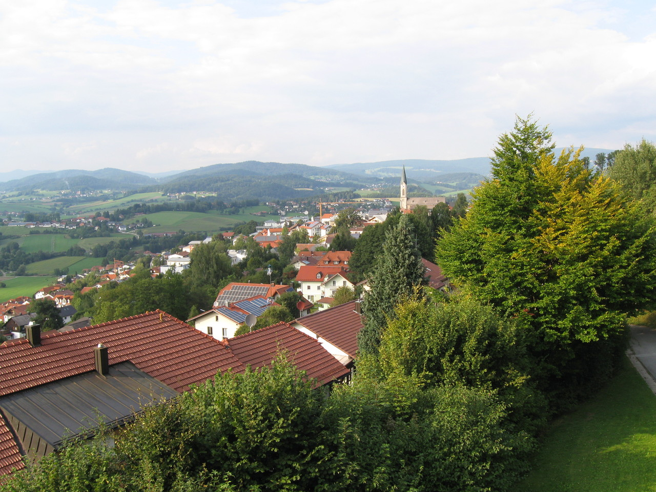 Blick vom Hotel Karoli nach Waldkirchen