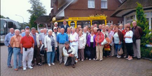 Die Vereinsfamilie 2010 in Ostfriesland.