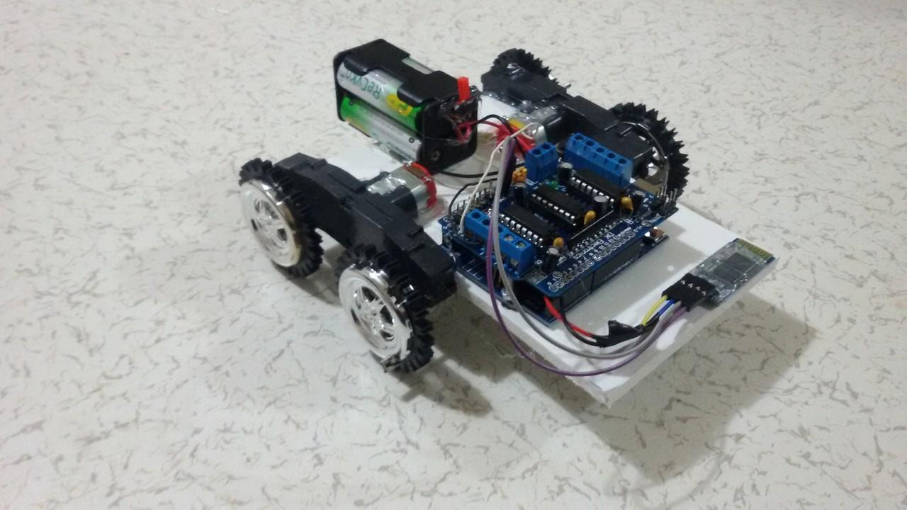 Arduino ile bluetooth Üzerinden kontrol edilen robot