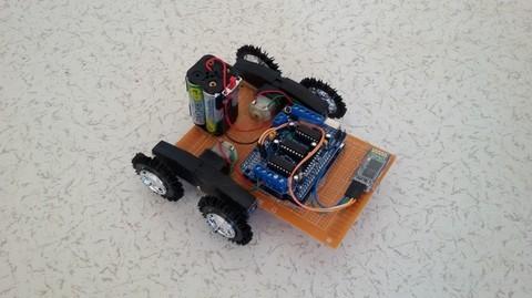 ses ile çalışan robot