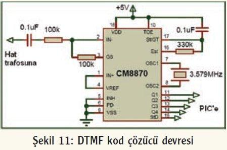 dtmf kod çözücü devre