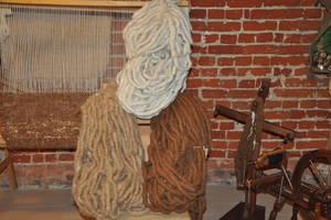 Alpaka-Teppichwolle, Weblunte aus reiner Alpakafaser in den Naturfarben des Alpakavlieses