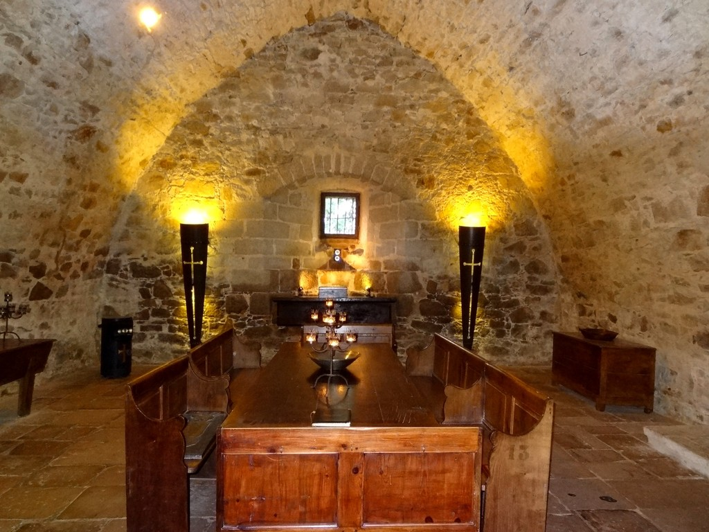 The authentic vaulted chamber at medieval Chateau Tennnessus