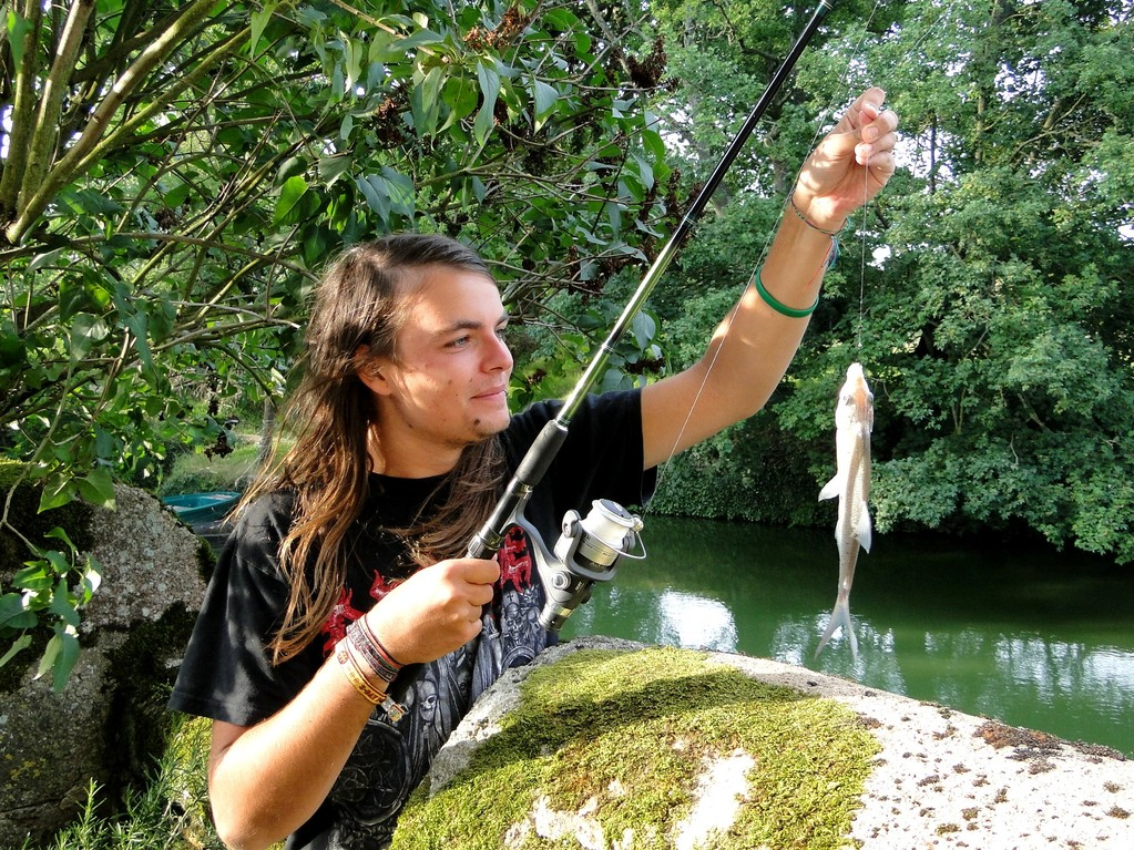 Fishing in the moat, Tennessus medieval castle bed and breakfast
