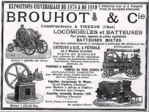 Extrait d'une publicité de la société  Brouhot et Cie  en 1898