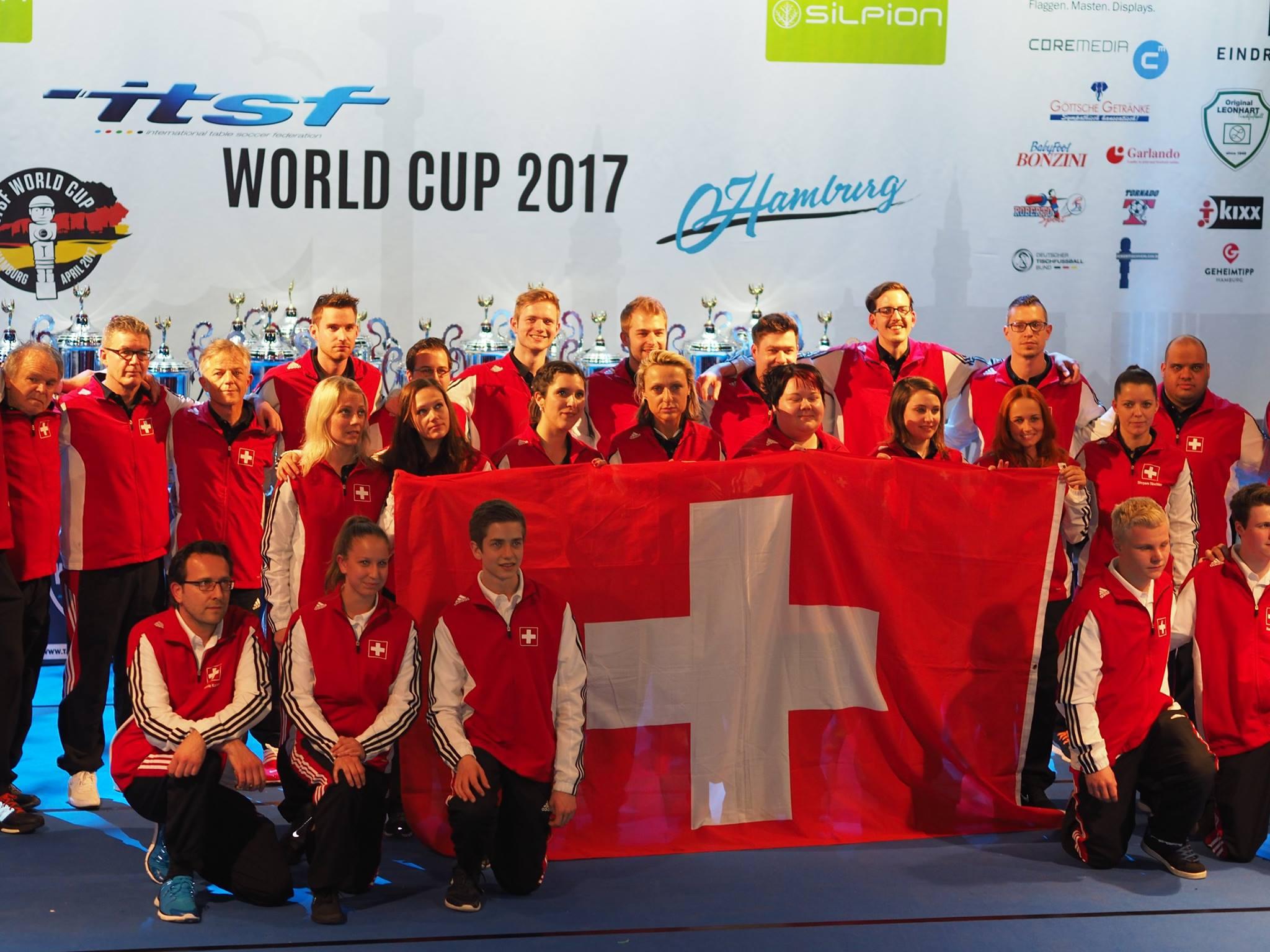 La Suisse lors des Championnat du monde multitable à Hambourg