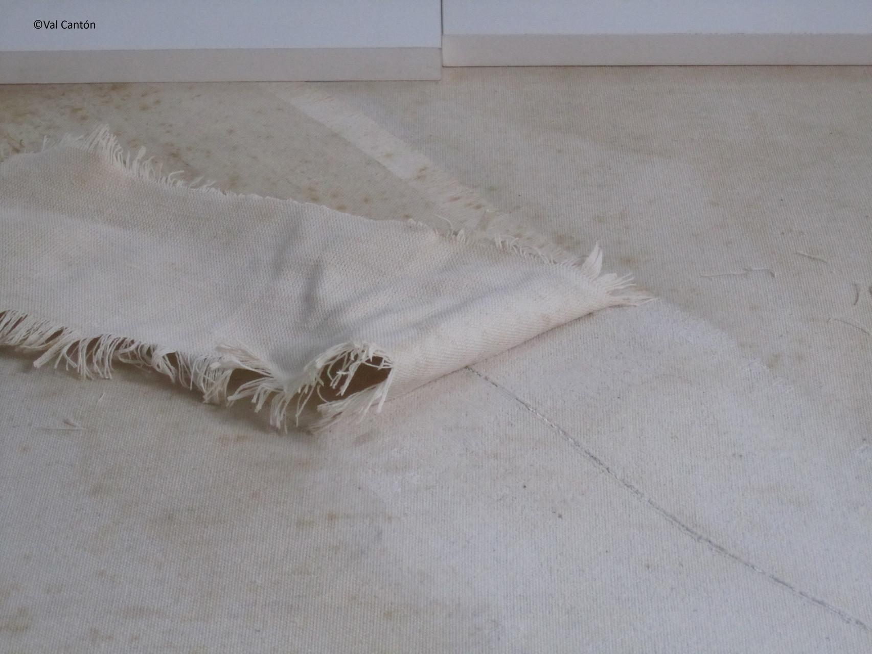 Proceso de eliminación de parche de tela.