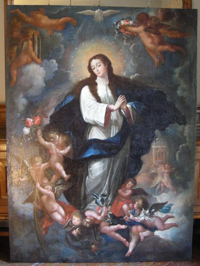 Inmaculada Concepción, de Andrés López Caballero. Óleo/lienzo. Estado final.