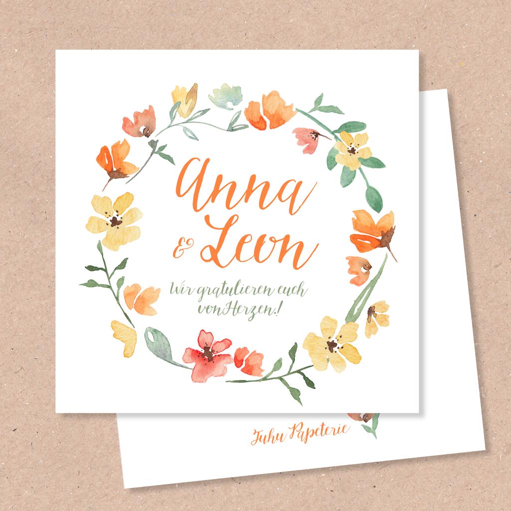Hochzeitskarten Juhu Papeterie Liebevoll Gestaltete Postkarten