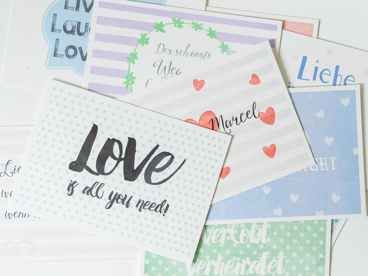hochzeitskarten juhu papeterie liebevoll gestaltete postkarten gru karten da freut sich. Black Bedroom Furniture Sets. Home Design Ideas