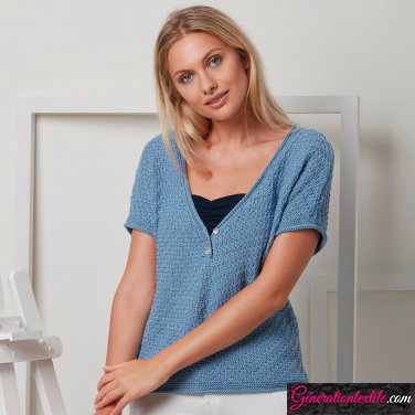 laine Katia collection Tencel-Cotton modèle N°10