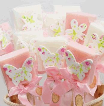 Seifenstecker mit Schmetterlingen