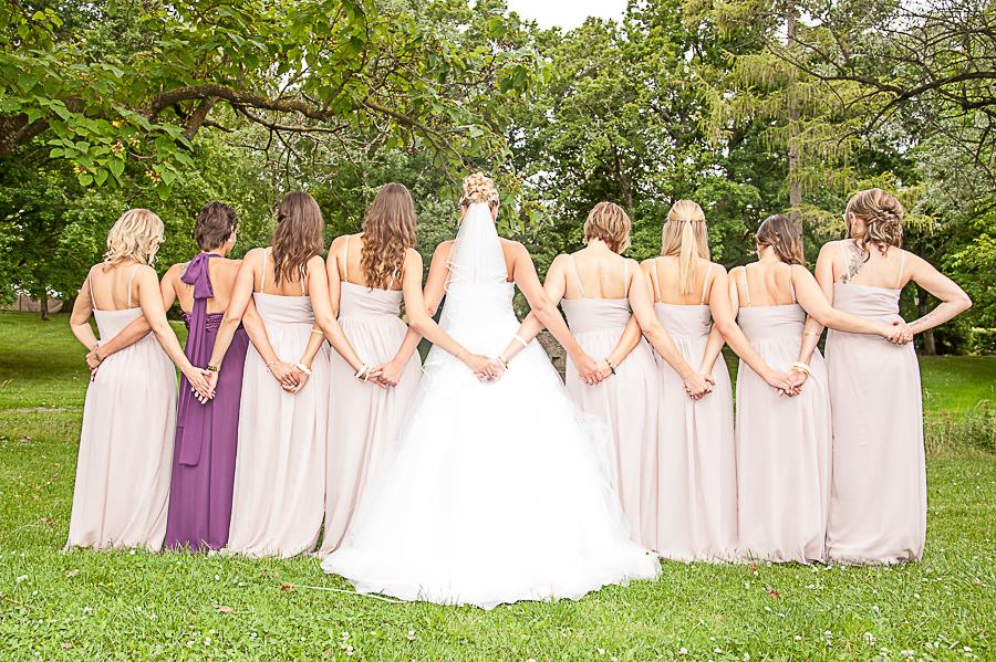 Foto mit verschränkten Armen - Brautjungfern