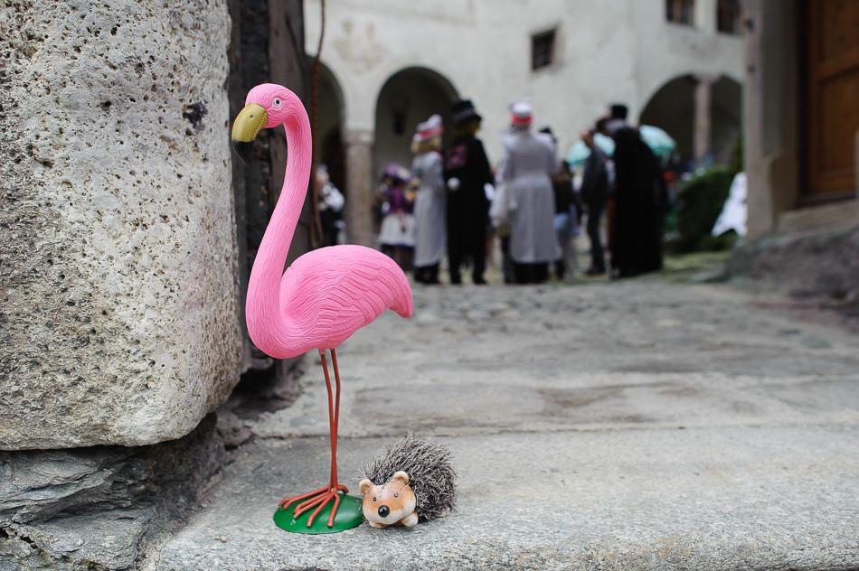 Whimsical Hochzeit - Flamingo