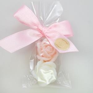 Seifen-Rosen in Zellophan mit Mascherl