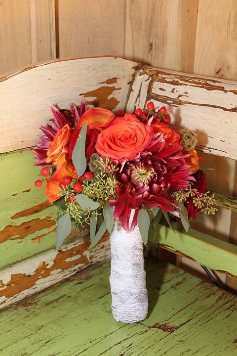 Rustikaler Brautstrauß