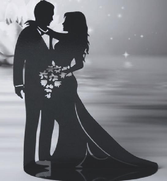 Romantische Tortenpick-Silhouette